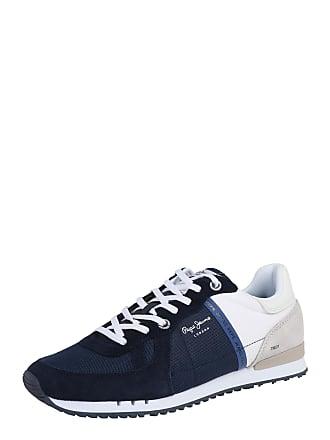 4273130036a052 Pepe Jeans London Sneaker Tinker beige   dunkelblau   weiß