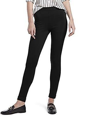 a9d4efc9a2901 Hue Womens Fleece Lined High Waist Ponte Legging, Cuffed - Black L