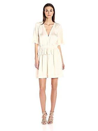 Bcbgmaxazria BCBGMax Azria Womens Lourie Woven V-Neck Dress, Whisper, M