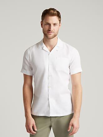 Hackett Mens Waffle Texture Beach Cotton Shirt   Medium   White