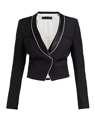 b85e71f504c85 Haider Ackermann Single Breasted Wool Crepe Blazer - Womens - Black White