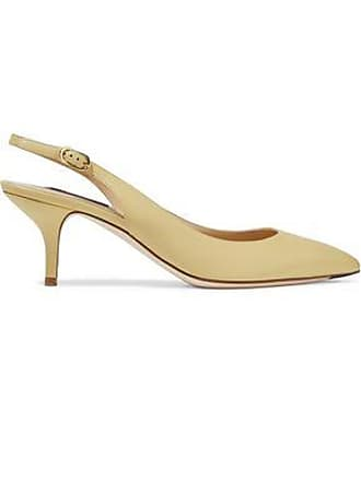 4ff1fa3612 Dolce & Gabbana Dolce & Gabbana Woman Bellucci Leather Slingback Pumps  Pastel Yellow Size 36.5