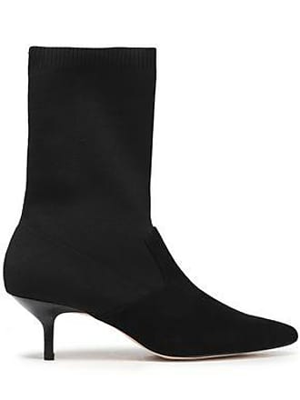 Halston Heritage Halston Heritage Woman Annalise Suede And Stretch-knit Sock Boots Black Size 7.5