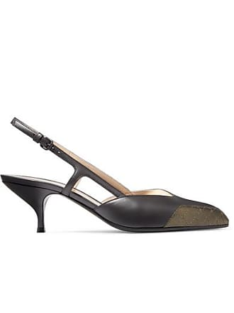 Bottega Veneta Two-tone Leather Slingback Pumps - Silver