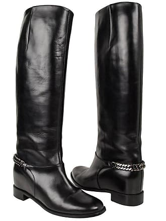 c8413da48105 Christian Louboutin Boot Black Cate Flat Knee High Chain Detail 39   9