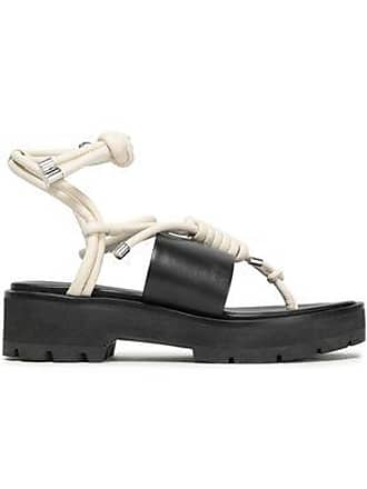 dd32efbaab36 3.1 Phillip Lim 3.1 Phillip Lim Woman Knotted Leather Platform Sandals  Black Size 39