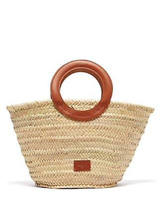 Zeus + Dione Scorpio Leather Trim Raffia Basket Bag - Womens - Tan Multi