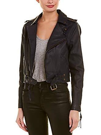 Nicole Miller Womens Moto Jacket, Navy, Small