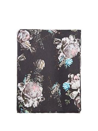 Preen Floral-print 220cm X 140cm Linen Tablecloth - Black Multi
