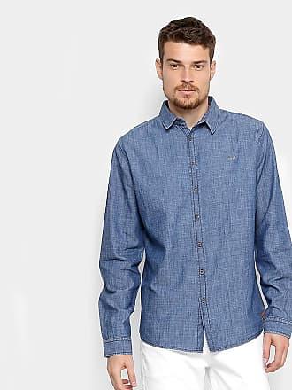 Colcci Camisa Jeans Slim Colcci Manga Longa Masculina - Masculino 759980ae424