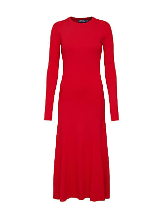 0c4cfee42534dd Ralph Lauren Jurk LS DRESS-LONG SLEEVE-CASUAL DRESS rood