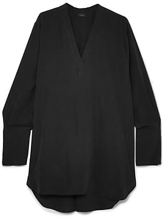 Joseph Eamon Oversized Washed-silk Blouse - Black