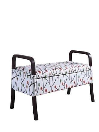 ORE 23.25 Cherry Blossom Wooden Arm Storage Bench