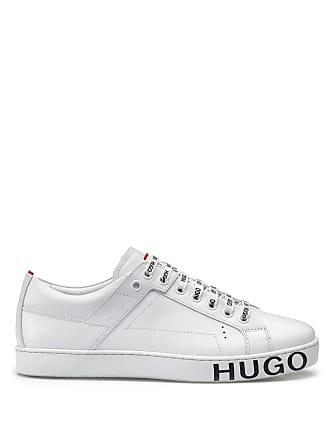 0e5a87e4c2f HUGO BOSS Hugo Boss Low-top sneakers in Italian leather statement logo 5  White