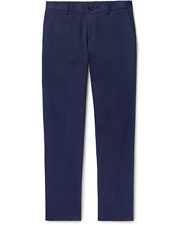 2926baef2c5c0 Etro Navy Slim-fit Cotton-blend Twill Chinos - Navy
