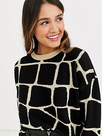 Qed London Pullover mit Giraffen-Print-Schwarz