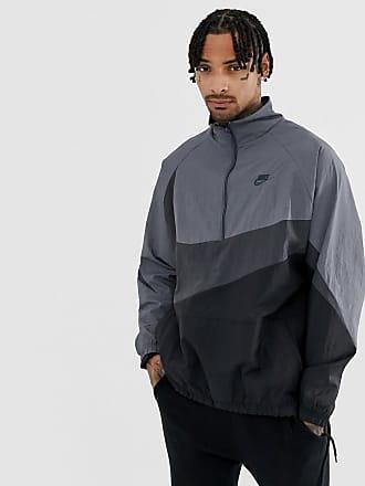 Nike Chaqueta con media cremallera en gris con logo Vaporwave de Nike 9fc7d13563f2e