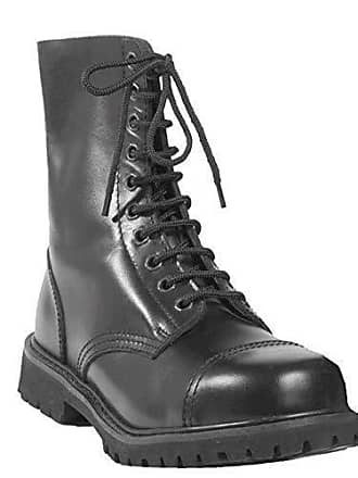794c0b6a7535d9 Mil-Tec Invader 10 Loch Stiefel Boots Schwarz Stahlkappe Leder Schuhe Ranger  Größe 37 (