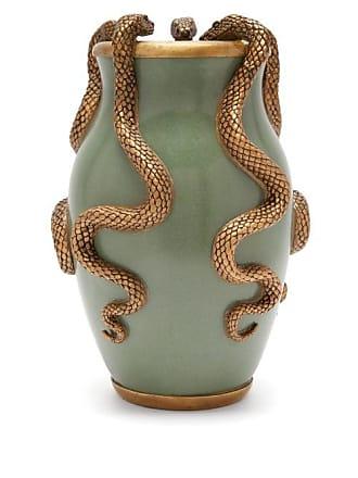 House of Hackney Serpentis Ceramic Vase - Green Gold