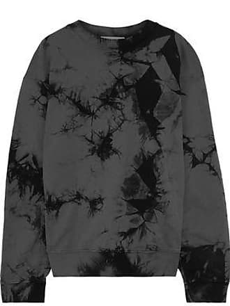 Helmut Lang Helmut Lang Woman Oversized Tie-dyed French Cotton-terry Sweatshirt Dark Gray Size S