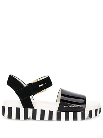 Emporio Armani striped sole sandals - Black
