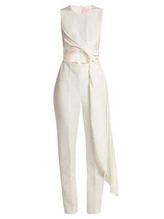 777563cae64d Roksanda Ilincic Thurloe Cut Out Knot Front Crepe Jumpsuit - Womens - Ivory