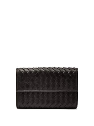 Bottega Veneta Intrecciato Continental Leather Wallet - Womens - Black