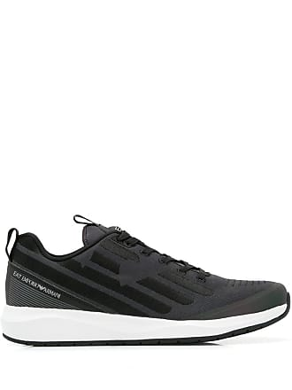 Emporio Armani embroidered logo sneakers - Grey