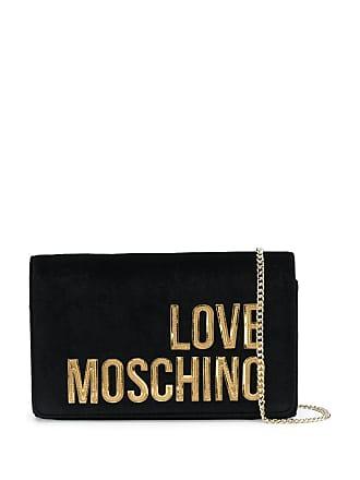 Love Moschino logo cross-body bag - Preto