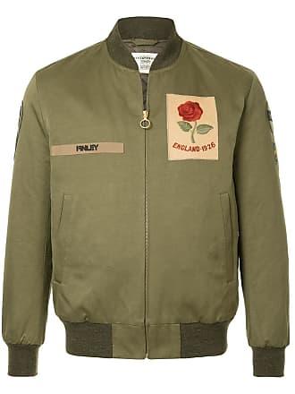 Kent & Curwen logo patch bomber jacket - Green