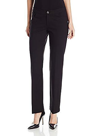 Anne Klein Womens Flare Leg Compression Pant, Black, 16