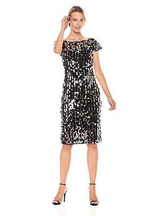 7b0e55b37878 Milly Womens Pailette Short Sleeve Slim Midi Linda Dress