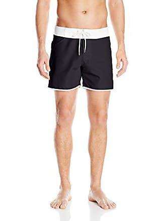 46d3a2703a Sauvage Mens Slim Fit Promenade Swim Short, Black, Large