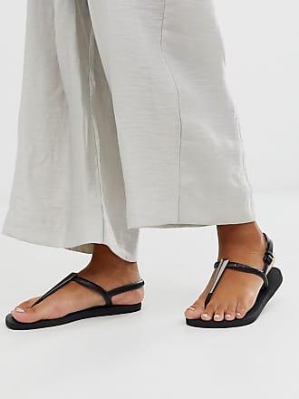 Havaianas Sandali infradito neri con dettaglio metallico-Nero
