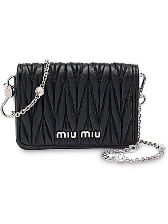3467aee7ffe Miu Miu Matelassé mini shoulder bag - Black