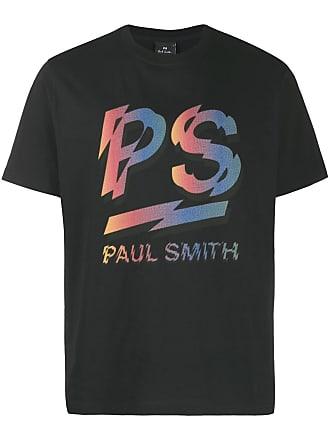 Paul Smith Camiseta com estampa de logo gráfico - Preto