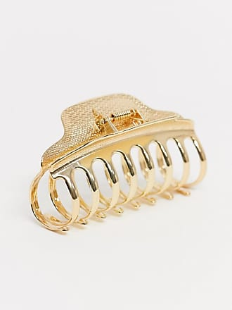 Asos hair claw in gold tone