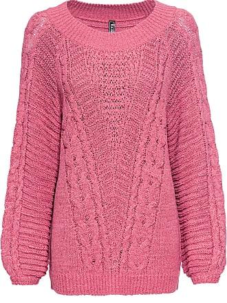 9ab3e71aa86a Bonprix Dam Grovstickad tröja i oversize-modell i rosa lång ärm - RAINBOW