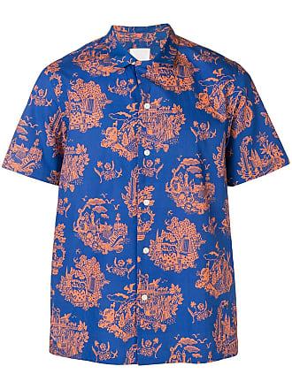 Wood Wood Camisa mangas curtas com estampa - Azul