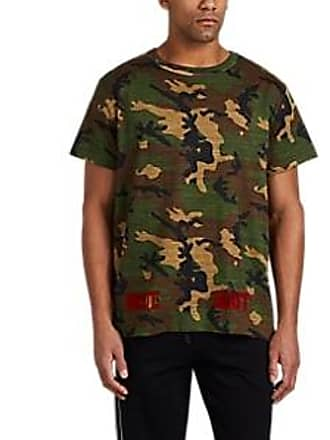 7c4595550993 Off-white Mens Flocked Camouflage-Print Cotton T-Shirt - Beige Khaki