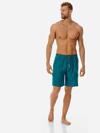 Vilebrequin Men Ready to Wear - Men Cargo Linen Bermuda Shorts Solid - BERMUDA - BAIE - Green - XS - Vilebrequin