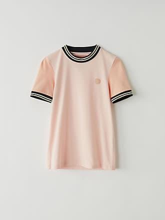 Acne Studios BK-WN-TSHI000002 Blossom pink Two-tone t-shirt