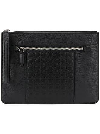 78a91afc249 Salvatore Ferragamo Gancini clutch bag - Black