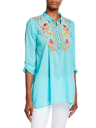 9675d625fa6427 Johnny Was Festival Long-Sleeve Embroidered Georgette Tunic