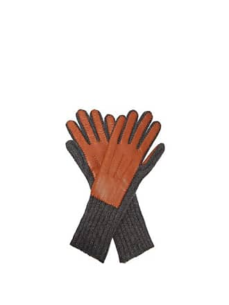 3841739f851ca Burberry Leather And Cashmere Gloves - Womens - Tan