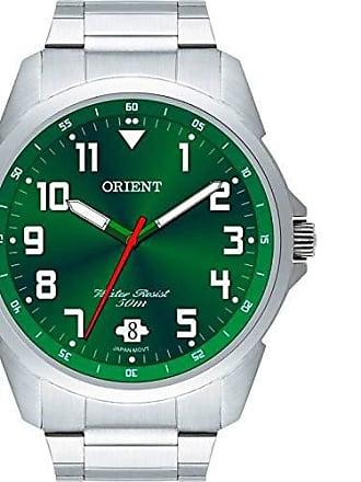 Orient Relógio Masculino Orient Prata/Verde - MBSS1154 E2SX