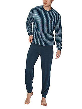 772d952705 CALIDA Zweiteiliger Schlafanzug Matthew Herren Pyjama mit Bündchen,  Mehrfarbig (Dark Denim 366),