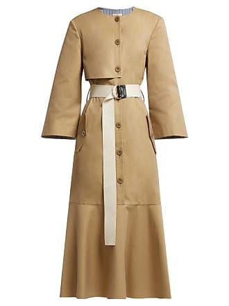 Tibi Finn Cotton Twill Trench Dress - Womens - Khaki