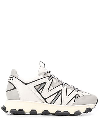 Lanvin panelled lace-up sneakers - Grey