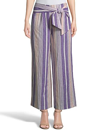 5twelve Striped Linen Tie-Waist Pants
